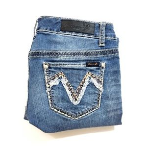 Seven7 Embellished Denim Medium Wash Jeans